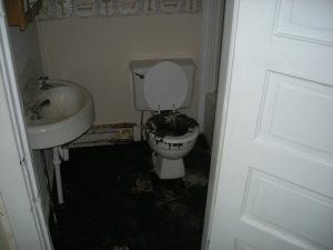 Sewage in the bathroom